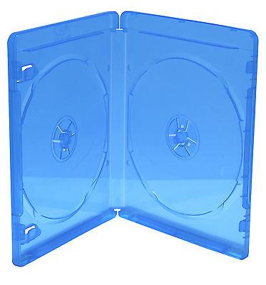 50 x 2 fach Bluray Hüllen Case 11mm Disk Box Leer 2er Hülle für Blu-Ray Rohlinge