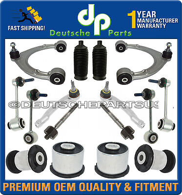 Porsche Panamera Front Upper Lower Control Arm Ball Joint Tie Rod Suspension Kit