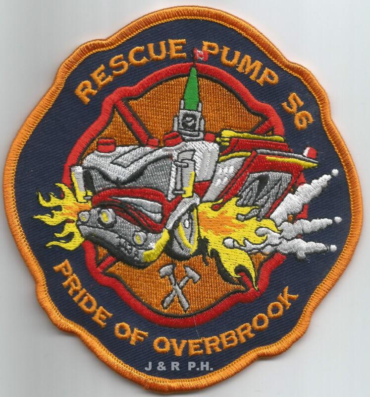 """Ottawa  Rescue Pump - 56, Canada  """"Pride-Overbrook"""" (4.5"""" x 4.5"""")  fire patch"""