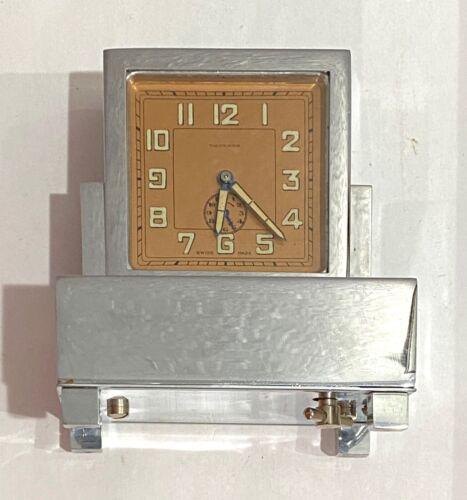 RARE VINTAGE MUSICAL ALARM CLOCK - THORENS - SWISS - WORKING