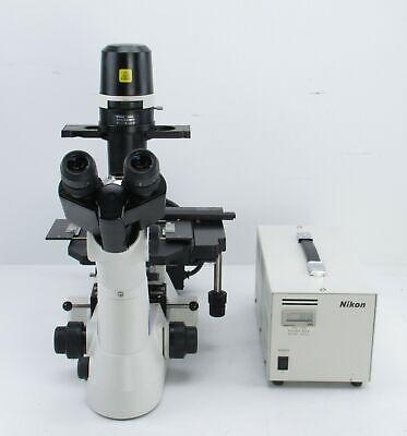 Nikon Eclipse Ts100 Trinocular Fluorescence Microscope W 4x 10x 20x 40x Obj