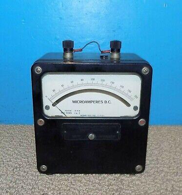 Large Vtg Weston 931 Dc Microamperes Meter 0-200 5 X 5 Free Shipping