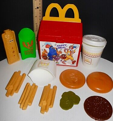 $10 OFF ~ RARE VTG Fisher Price McDonalds Fun Food Happy Meal Lunch Box COMPLETE