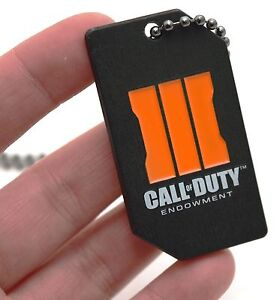 NEW CALL of DUTY: Black Ops 3 Endowment Limited Edition Dog Tag COD III Necklace