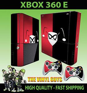 XBOX 360 E ELITE HARLEY QUINN LOGO RED BLACK BATMAN ... Xbox 360 Logo Red