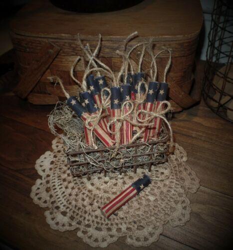 4th of July Rustic Home Decor~Firecracker Bowl Fillers~Farmhouse Primitive Decor