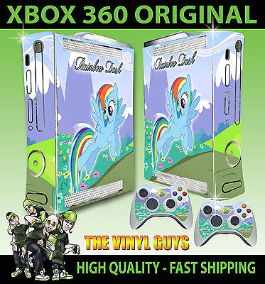 Xbox 360 Original Rainbow Dash My Little Pony Alleine Skin & 2 X Polster Folien ()