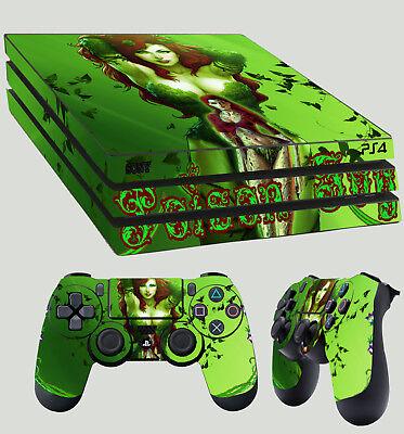 PS4 Pro Skin Poison Ivy Gotham Girl Batman Villian Sticker + 2 X Pad decal Vinyl - Batman Girl Villians