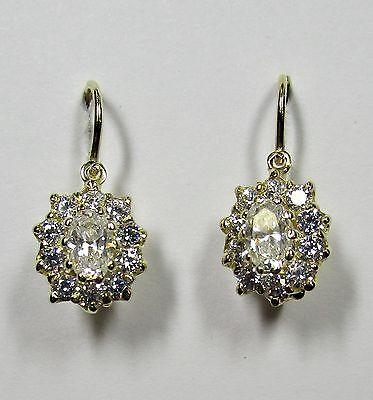 1603 - Funkelnde Ohrringe aus Gelbgold 585 mit Zirkonia - G6