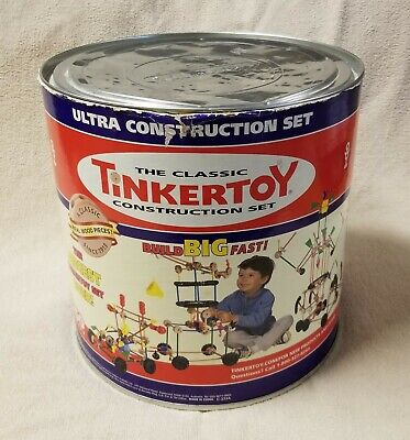 Ultra Construction Set (TINKERTOY ULTRA CONSTRUCTION SET 227 piece 23267 in Canister HASBRO Building Toy)
