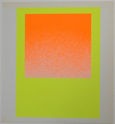Rupprecht Geiger farbiger Siebdruck 1967 schönes Blatt