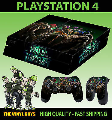 PS4 Skin Teenage Mutant Ninja Turtles Hero Sticker + Controller Decals LAY FLAT