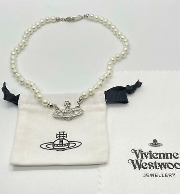Vivienne Westwood Pearl Orb Choker Necklace Silver
