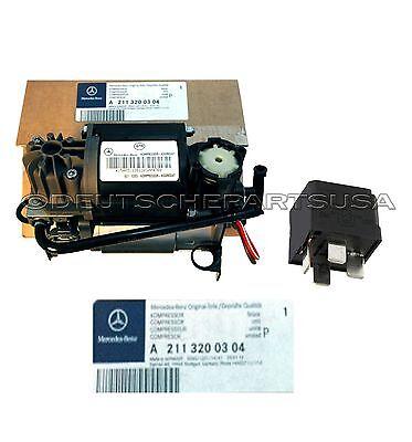 Original Mercedes Benz W220 W211 W219 Luftfederung Kompressor Luft Pumpe &