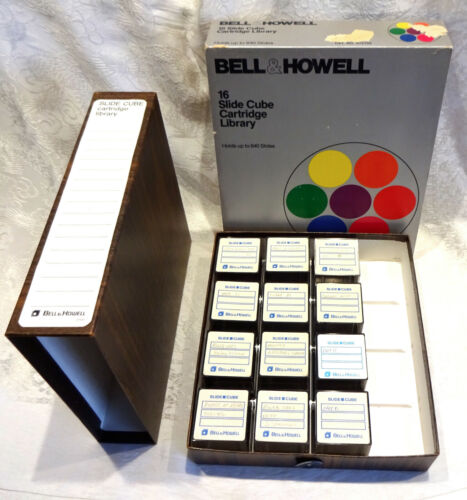 Bell & Howell 12 Slide Cube Library