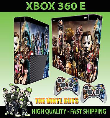 Xbox 360 E Super Slim Horror Montage Evil Villains Skin & 2 Polster Hülle segunda mano  Embacar hacia Argentina