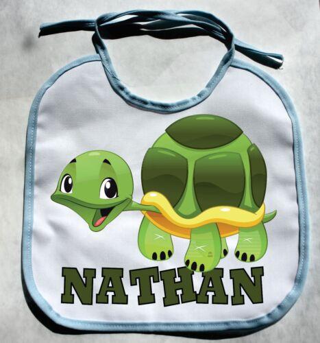 PERSONALIZED MONOGRAM CUSTOM Turtle Zoo Animal Baby Boy Bib Shower Gift  bibs
