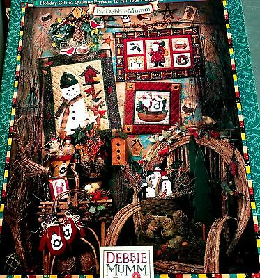 NATURE'S CHRISTMAS Quilt Pattern Book SANTA SNOWMAN BIRDHOUSES BIRD Stocking