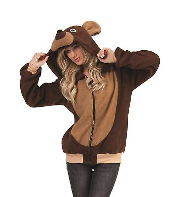 RG Costumes Bailey the Bear Adult Unisex Hoodie Size Small Style # 40975
