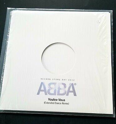 """RSD 2012 -ABBA - VOULEZ-VOUS - 12"""" 45 RMP Blue Glitter vinyl #729 of 5000!"""