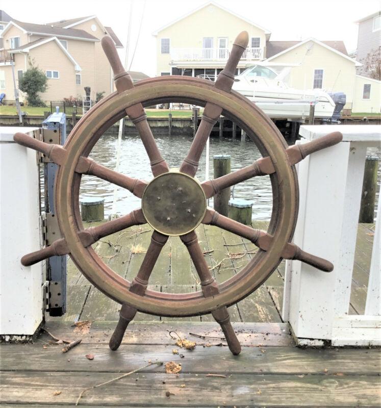 "144 yr. Old Antique 36"" Ship Wheel"