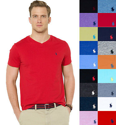 New Men Polo Ralph Lauren V Neck T Shirt Size S M L Xl Xxl   Standard Fit