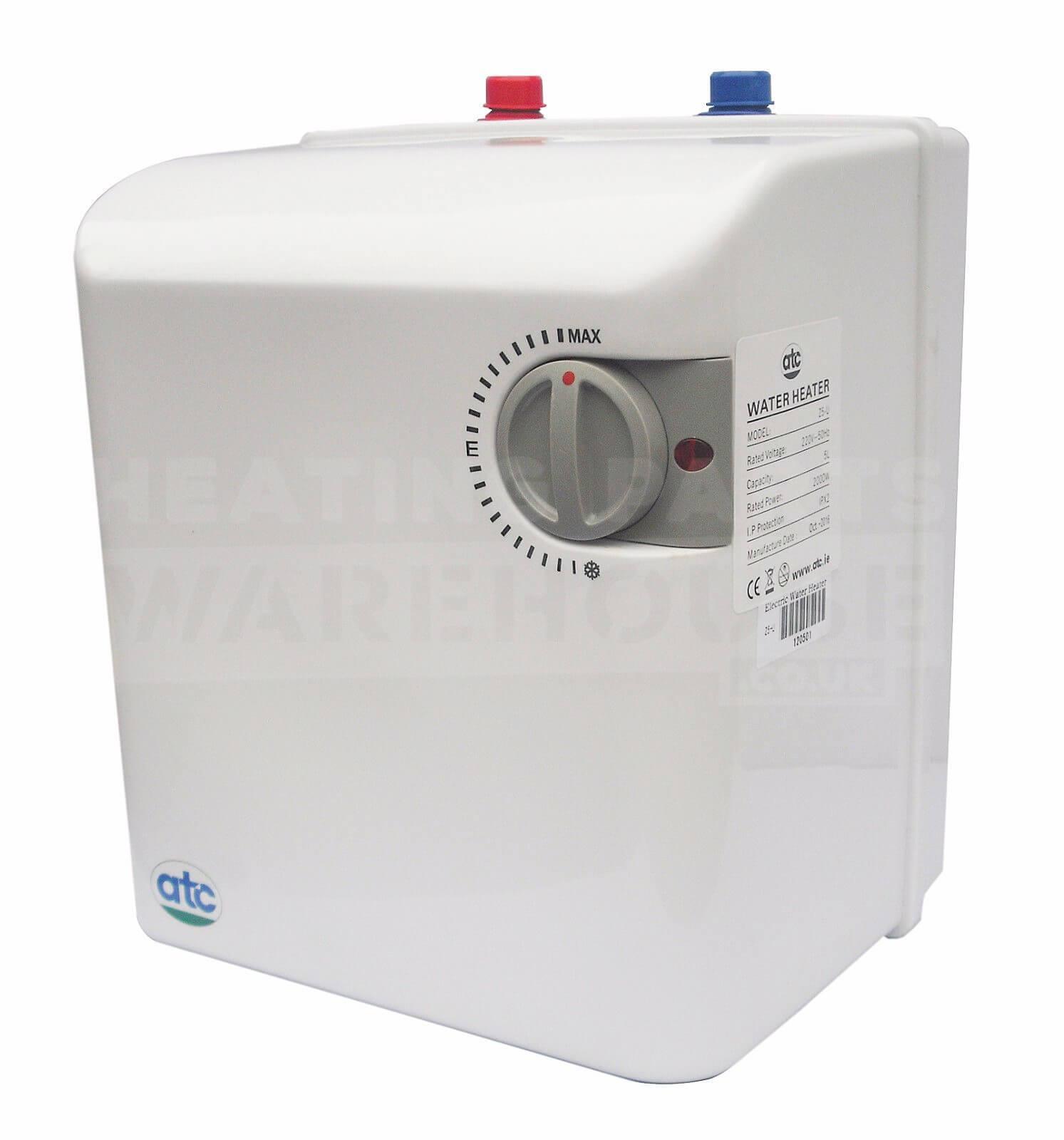 ATC 5L 5 Liter 2kW unbelüfteter unter Waschbecken Warmwasserbereiter ...