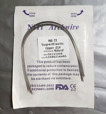 1packs Dental Orthodontic Super Elastic Wire Niti Round Arch Wires Natural Form