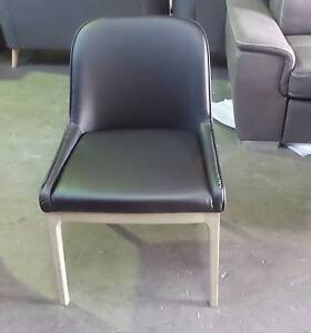 6  MODERN  SANDBLAST LEGS  PU BLACK DINING CHAIRS Thebarton West Torrens Area Preview
