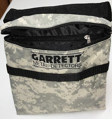 Brand New Garrett CAMO Canvas Metal Detector Finds Recovery Bag/Pouch With Belt!