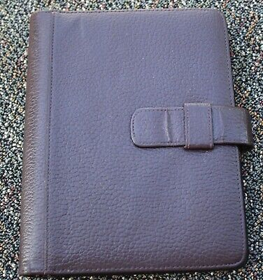 Day Runner Classic 7- 1 Chocolate Brown Genuine Leather Open Planner Franklin