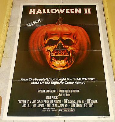 original HALLOWEEN II one-sheet poster Donald Pleasence Jamie Lee Curtis