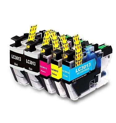 5-Pk/Pack LC3013 LC 3013 Ink for Brother MFC-J491DW MFC-J497DW J690DW J895DW