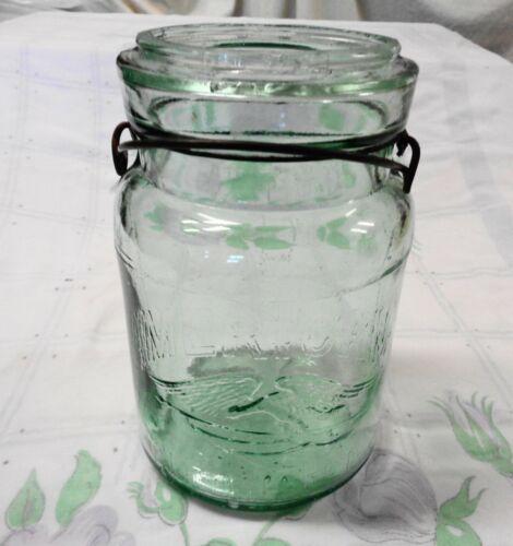 "Antique Quart Size Rare "" AMERICAN  FRUIT"" Canning Jar NO LID"