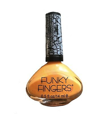 FUNKY FINGERS Crackle Nail Polish in NEON ORANGE (perfect Halloween idea)