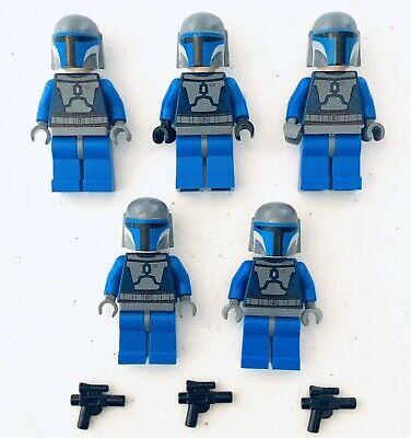 Lego Star Wars Minifigure: Mandalorian Lot of 5 + Blasters Death Watch Bounty