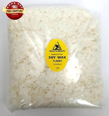 SOY AKOSOY WAX FLAKES ORGANIC VEGAN PASTILLES FOR CANDLE MAKING PURE 48 OZ 3 LB Candles Organic Soy Wax