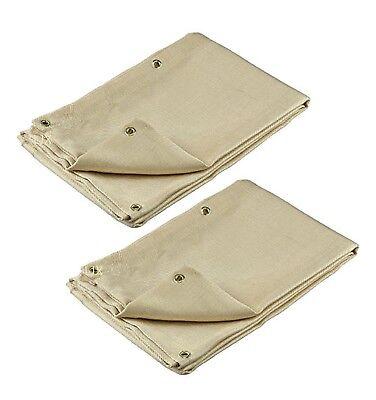 2 Welding Blanket 6 X 8 Fire Flame Retardant Fiberglass Safety Shield Grommets