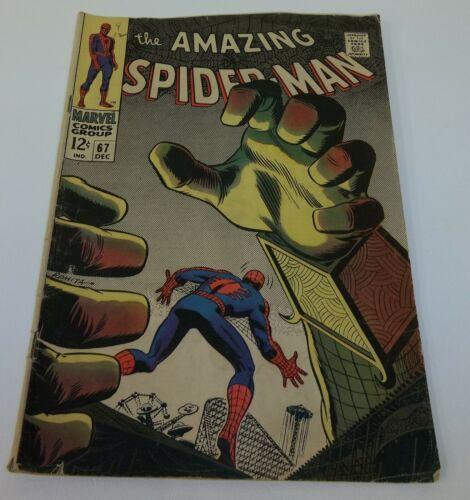 The Amazing Spider Man 67 Dec 1968 Comic Book Romita Cover