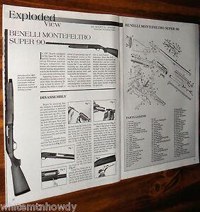 Dettagli su 2000 benelli montefeltro super 90 exploded view parts list
