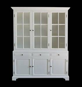 BRAND NEW! French Style Provincial Glass Display Cabinet White Dandenong South Greater Dandenong Preview