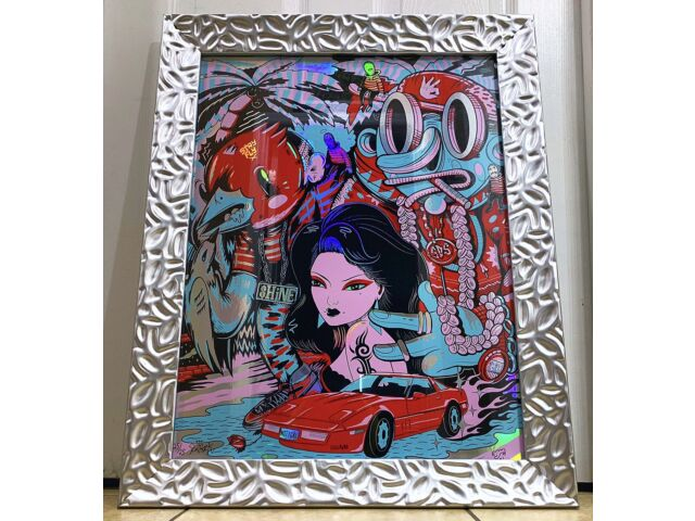 *VERY RARE* Sentrock - Lillipore - Birdcap Collaboration Holographic Print Frame