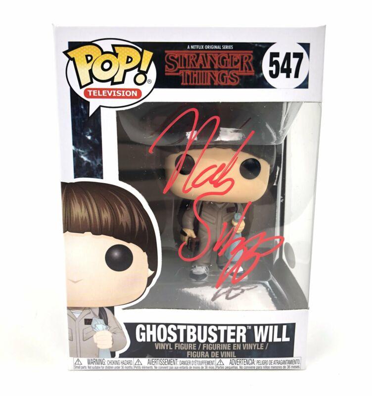 Noah Schnapp Autograph Funko Pop Stranger Things Ghostbuster Will Signed JSA COA