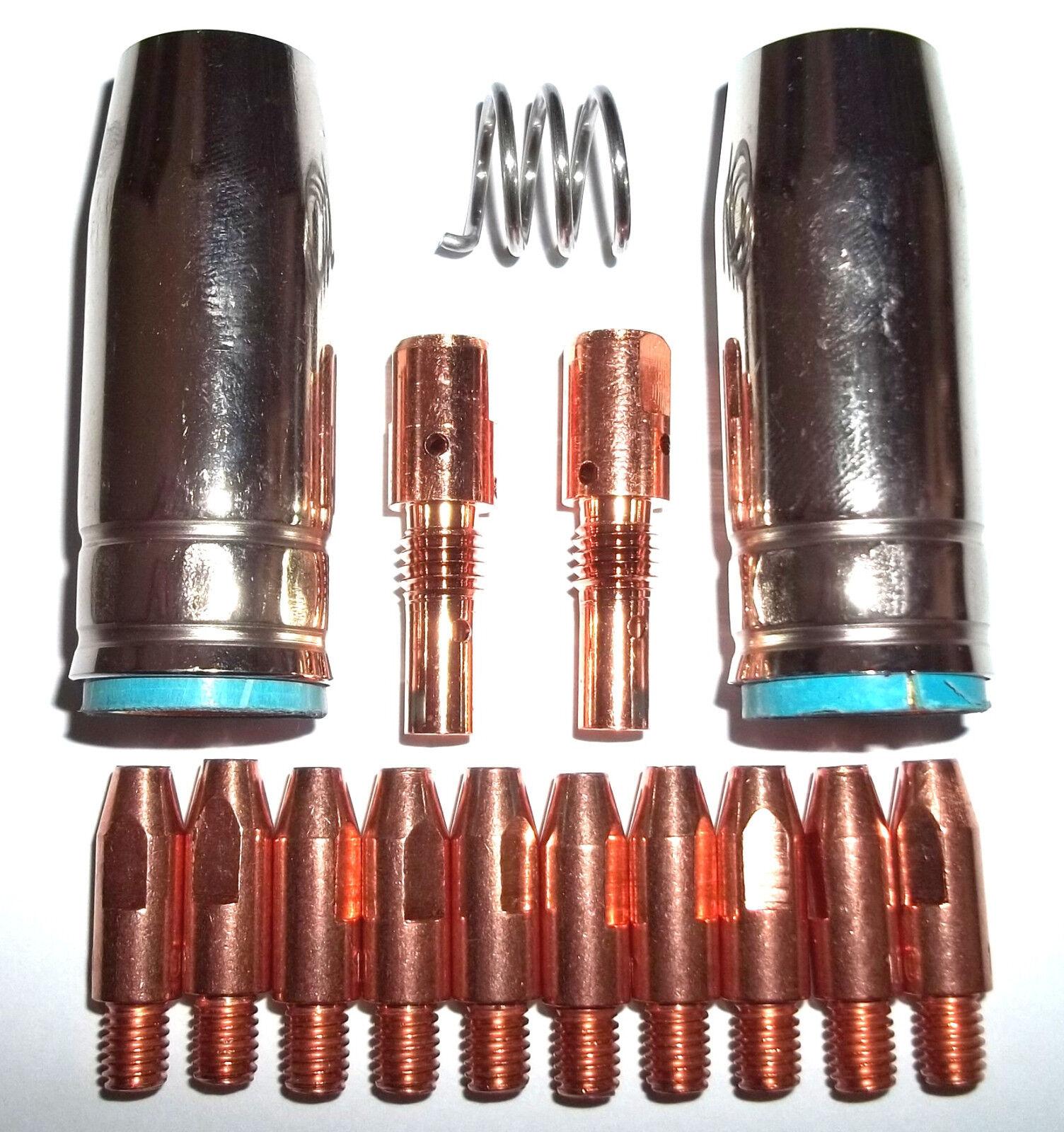 Verschleissteile Set für MB25 250 mit Gasdüsen,Düsenstock und 1,0mm Stromdüsen