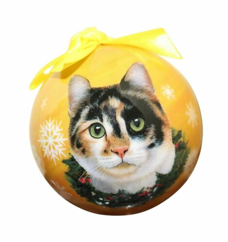 Calico Cat Christmas Ball Ornaments Holiday Tree Decoration ShatterProof Ball