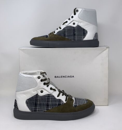 Balenciaga Sneakers Shoes Origami Panel High Top Size 43 US 10 NEW AUTHENTIC