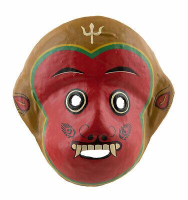 Mask Nepalese Monkey Hanuman Yenya Indra Jatra Festival Nepal Paper Mache 1324