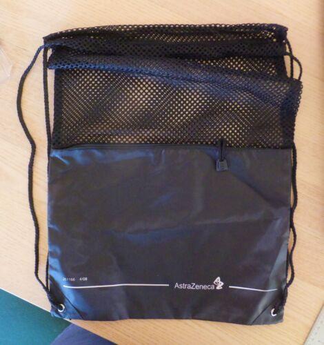 Lot of 2 AstraZeneca Drawstring Backpacks, Drug Rep, Pharmaceutical Promotional