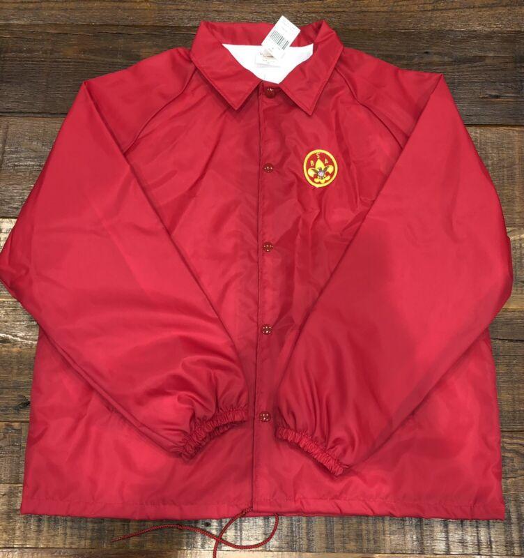 Boy Scout Red Nylon Windbreaker Size XL