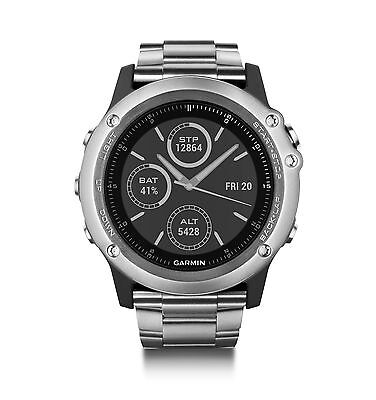 Garmin Fenix 3 Sapphire Multisport Training Gps Watch Titanium Band 010 01338 40